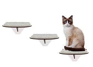 Kit 3 Degraus de Parede para Gatos
