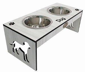 Comedouro Silhueta Dog Marmore