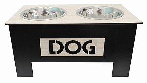 Comedouro Elevado Dog - Preto