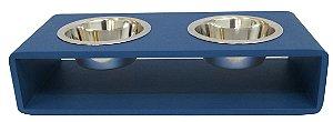 Comedouro Modern Duplo Azul