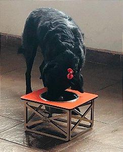 Comedouro Pet Fórmica- Laranja