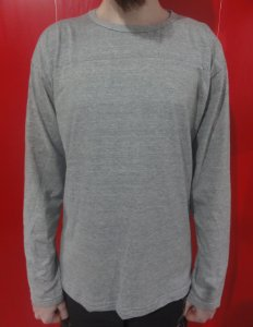 Camiseta Manga Longa Cinza Mescla Lisa 100% Algodão