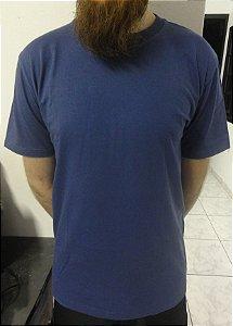 Camiseta 100% Algodão Azul Lisa