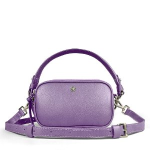 Pochete bolsa Milla em couro lilas