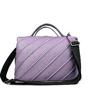 Bolsa Sarah em couro lilas