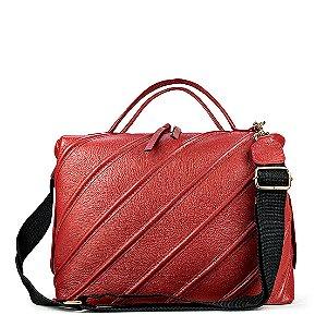 Bolsa Balaia Sarah em couro vermelha