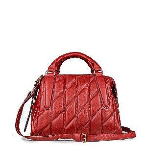 Bolsa Liz em couro Vermelho