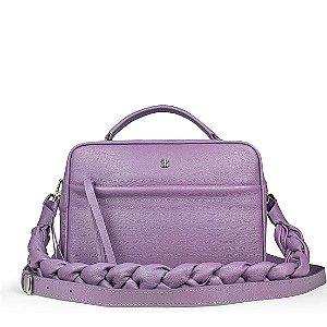 Bolsa Manu em couro lilas