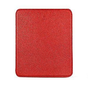 Mouse pad personalizável em couro vermelho