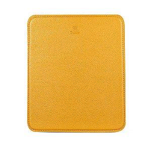 Mouse pad personalizável em couro mostarda