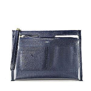 Organizador de bolsa personalizável em couro marinho