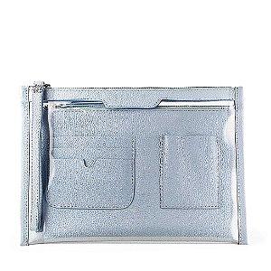 Organizador de bolsa personalizável em couro cielo