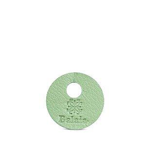 Marcador de taça personalizável em couro erva doce