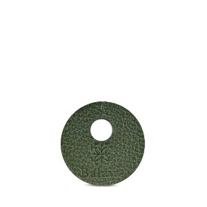 Marcador de taça personalizável em couro musgo