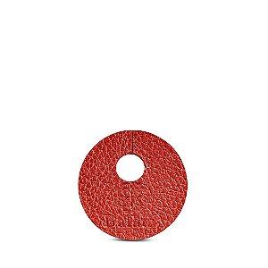 Marcador de taça personalizável em couro vermelho