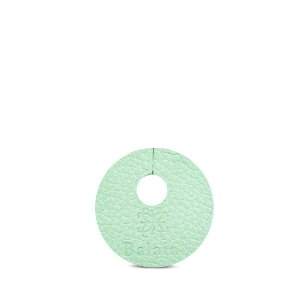 Marcador de taça personalizável em couro menta