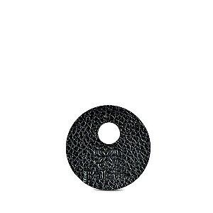 Marcador de taça personalizável em couro preto