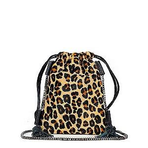 Bagphone em couro animal print