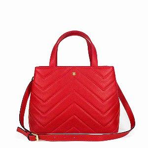Bolsa Balaia Iara em couro Vermelho