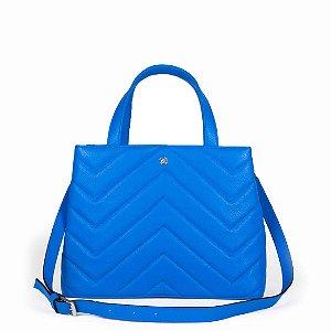 Bolsa Balaia Iara em couro Azul Cobalto
