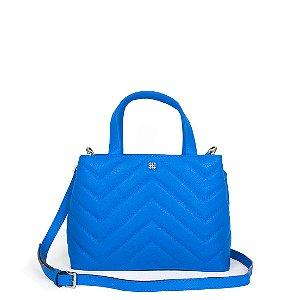 Bolsa Balaia Iara Mini em couro Azul Cobalto