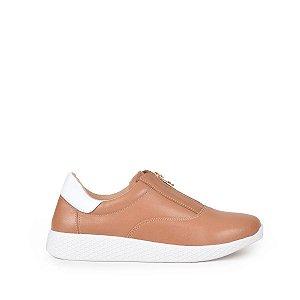 Sneaker Balaia MOD260 em Couro Caramelo