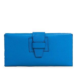 Carteira Balaia Click em couro Azul Cobalto