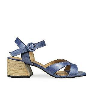 Sandália Balaia MOD334 em couro Azul