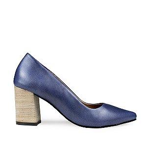 Scarpin Balaia MOD335 em couro Bulgari Azul
