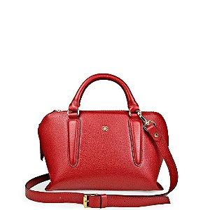 Bolsa Balaia Zoe M em couro Vermelho