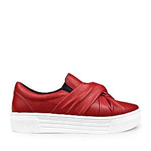 Sneaker Balaia MOD429 em couro Vermelho