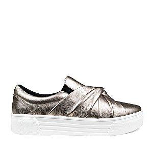 Sneaker Balaia MOD429 em couro Ouro Light