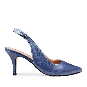 Chanel Balaia MOD356 em couro Bulgari Azul