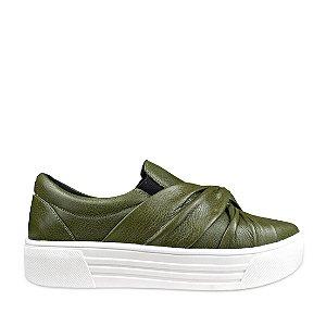 Sneaker Balaia MOD429 em couro Musgo