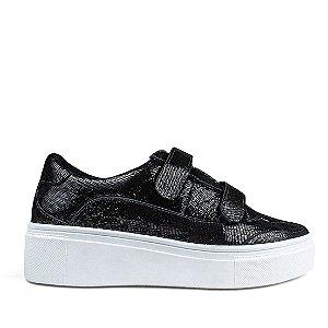 Sneaker Balaia MOD444 em couro Cristal Preto