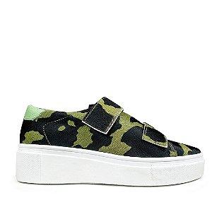 Sneaker Balaia MOD482 em couro Pelo Militar