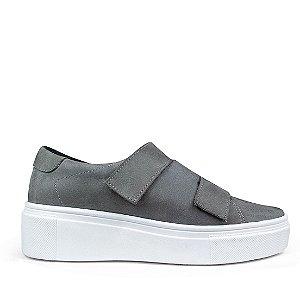 Sneaker Balaia MOD482 em couro Nobuck Cinza