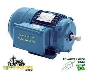 Motor 7,5cv 4polos 220/440V IP55 Blindado Baixa Rotacao