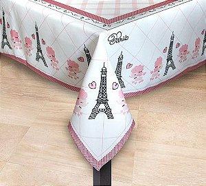 Toalha de Mesa Paris - Até 06 Lugares