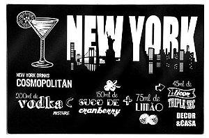 Tábua de Corte Modelo New York - Vidro Temperado