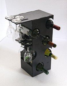 """Adega de Vinho Tipo """"Torre"""" em MDF Corte Laser"""