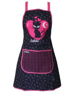 Avental de Cozinha Design Elegante - Resistente à Água - Modelo Gatinha