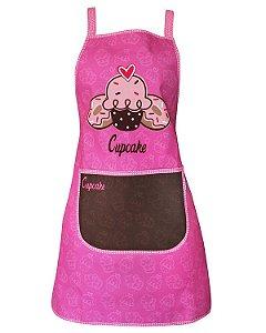 Avental de Cozinha Design Elegante - Resistente à Água - Modelo Cupcake