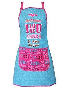 Avental de Cozinha Design Elegante - Resistente à Água - Modelo Love