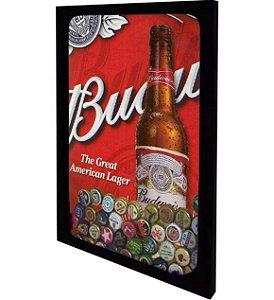 """Quadro Porta Tampinhas de Cerveja """"Slim"""" Tamanho 30cm X 40cm"""