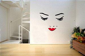 Adesivo de Parede 3D - Alto Relevo - Rosto Feminino