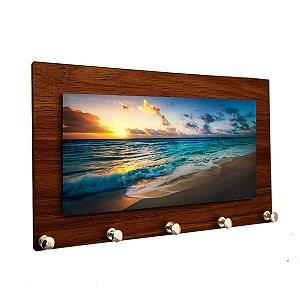 Porta Chaves e Cartas Personalizado Modelo Praia