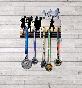 "Porta Medalhas ""Bora Correr"" Masculino"