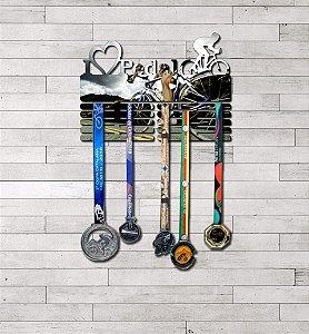 "Porta Medalhas ""I Love Pedal"" Masculino"