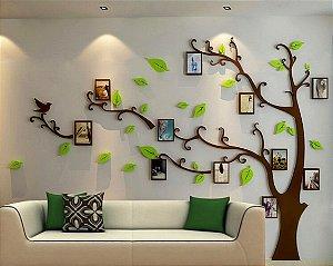 Adesivo de Parede 3D - Alto Relevo - Árvore com Porta Retratos